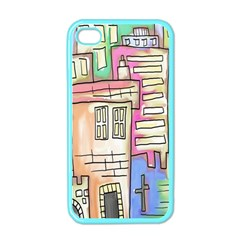 A Village Drawn In A Doodle Style Apple Iphone 4 Case (color)