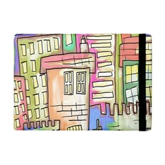 A Village Drawn In A Doodle Style Apple Ipad Mini Flip Case by BangZart