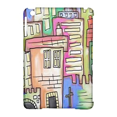 A Village Drawn In A Doodle Style Apple Ipad Mini Hardshell Case (compatible With Smart Cover) by BangZart
