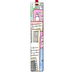 A Village Drawn In A Doodle Style Large Book Marks by BangZart