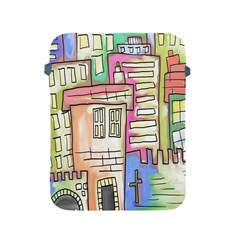A Village Drawn In A Doodle Style Apple Ipad 2/3/4 Protective Soft Cases