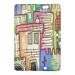 A Village Drawn In A Doodle Style Kindle Fire Hdx 8 9  Hardshell Case by BangZart