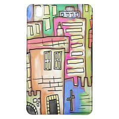 A Village Drawn In A Doodle Style Samsung Galaxy Tab Pro 8 4 Hardshell Case