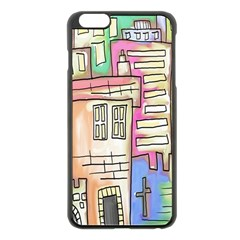 A Village Drawn In A Doodle Style Apple Iphone 6 Plus/6s Plus Black Enamel Case by BangZart