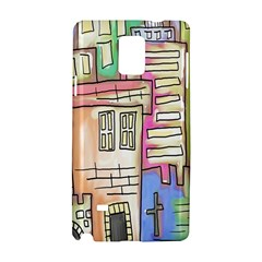 A Village Drawn In A Doodle Style Samsung Galaxy Note 4 Hardshell Case by BangZart