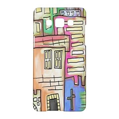 A Village Drawn In A Doodle Style Samsung Galaxy A5 Hardshell Case