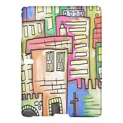 A Village Drawn In A Doodle Style Samsung Galaxy Tab S (10 5 ) Hardshell Case  by BangZart
