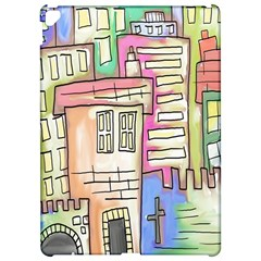 A Village Drawn In A Doodle Style Apple Ipad Pro 12 9   Hardshell Case by BangZart