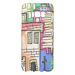 A Village Drawn In A Doodle Style Samsung Galaxy S8 Plus Hardshell Case