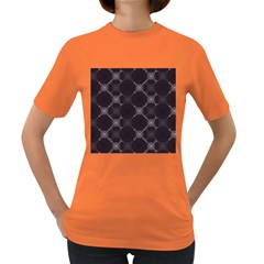 Abstract Seamless Pattern Background Women s Dark T Shirt