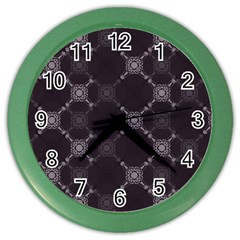 Abstract Seamless Pattern Background Color Wall Clocks by BangZart