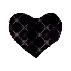 Abstract Seamless Pattern Background Standard 16  Premium Flano Heart Shape Cushions