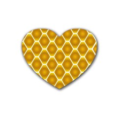 Snake Abstract Pattern Rubber Coaster (heart)  by BangZart