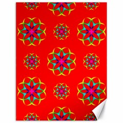 Rainbow Colors Geometric Circles Seamless Pattern On Red Background Canvas 18  X 24   by BangZart