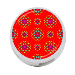 Rainbow Colors Geometric Circles Seamless Pattern On Red Background 4 Port Usb Hub (two Sides)  by BangZart