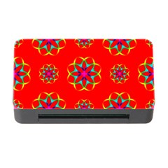 Rainbow Colors Geometric Circles Seamless Pattern On Red Background Memory Card Reader With Cf by BangZart