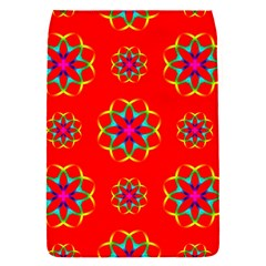 Rainbow Colors Geometric Circles Seamless Pattern On Red Background Flap Covers (s)  by BangZart