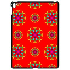 Rainbow Colors Geometric Circles Seamless Pattern On Red Background Apple Ipad Pro 9 7   Black Seamless Case by BangZart