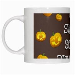 Hallowen My Sweet Scary Pumkins White Mugs