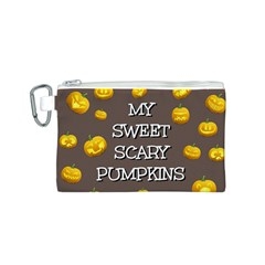 Hallowen My Sweet Scary Pumkins Canvas Cosmetic Bag (s) by BangZart