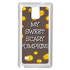 Hallowen My Sweet Scary Pumkins Samsung Galaxy Note 4 Case (white) by BangZart