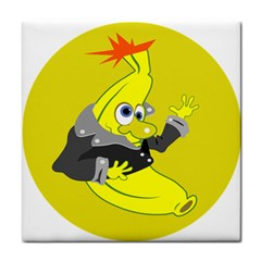 Funny Cartoon Punk Banana Illustration Face Towel