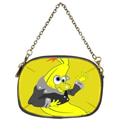 Funny Cartoon Punk Banana Illustration Chain Purses (one Side)  by BangZart