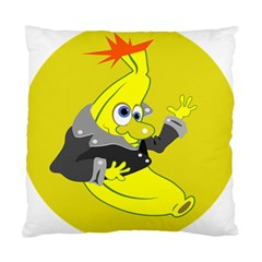 Funny Cartoon Punk Banana Illustration Standard Cushion Case (two Sides) by BangZart