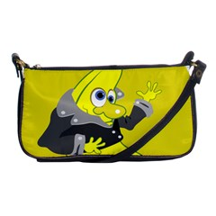 Funny Cartoon Punk Banana Illustration Shoulder Clutch Bags by BangZart