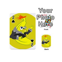 Funny Cartoon Punk Banana Illustration Playing Cards 54 (mini)  by BangZart