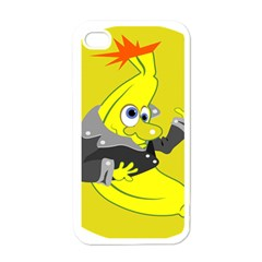 Funny Cartoon Punk Banana Illustration Apple Iphone 4 Case (white) by BangZart