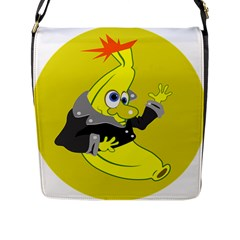 Funny Cartoon Punk Banana Illustration Flap Messenger Bag (l)  by BangZart