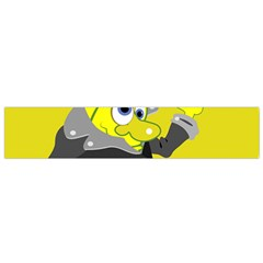 Funny Cartoon Punk Banana Illustration Flano Scarf (small) by BangZart