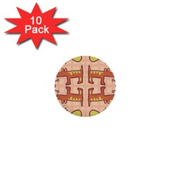 Pet Dog Design  Tileable Doodle Dog Art 1  Mini Buttons (10 Pack)  by BangZart