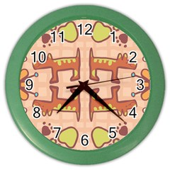 Pet Dog Design  Tileable Doodle Dog Art Color Wall Clocks