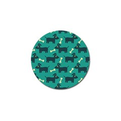 Happy Dogs Animals Pattern Golf Ball Marker (10 Pack) by BangZart