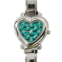 Happy Dogs Animals Pattern Heart Italian Charm Watch