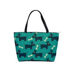 Happy Dogs Animals Pattern Shoulder Handbags by BangZart