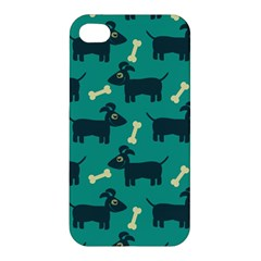 Happy Dogs Animals Pattern Apple Iphone 4/4s Premium Hardshell Case by BangZart
