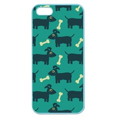 Happy Dogs Animals Pattern Apple Seamless Iphone 5 Case (color)