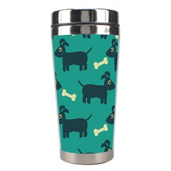 Happy Dogs Animals Pattern Stainless Steel Travel Tumblers by BangZart