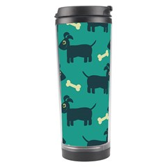 Happy Dogs Animals Pattern Travel Tumbler by BangZart