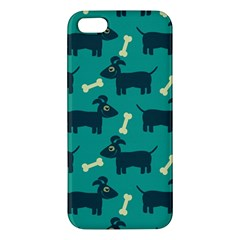 Happy Dogs Animals Pattern Iphone 5s/ Se Premium Hardshell Case