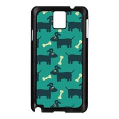 Happy Dogs Animals Pattern Samsung Galaxy Note 3 N9005 Case (black)