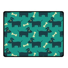Happy Dogs Animals Pattern Double Sided Fleece Blanket (small)