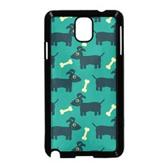 Happy Dogs Animals Pattern Samsung Galaxy Note 3 Neo Hardshell Case (black)