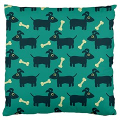 Happy Dogs Animals Pattern Standard Flano Cushion Case (two Sides) by BangZart