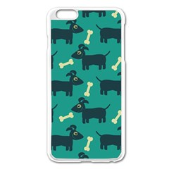 Happy Dogs Animals Pattern Apple Iphone 6 Plus/6s Plus Enamel White Case