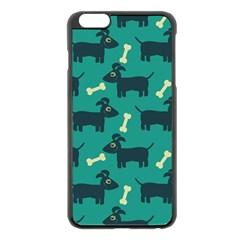 Happy Dogs Animals Pattern Apple Iphone 6 Plus/6s Plus Black Enamel Case by BangZart