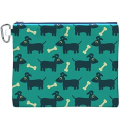 Happy Dogs Animals Pattern Canvas Cosmetic Bag (xxxl) by BangZart